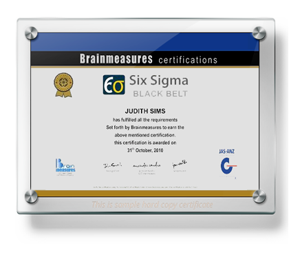six sigma black belt certification, training, online course usd 150