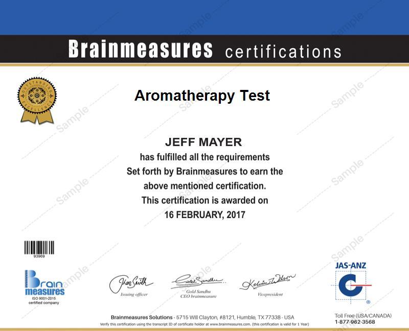 Aromatherapy Skill Test L Exam L Contest L Certification