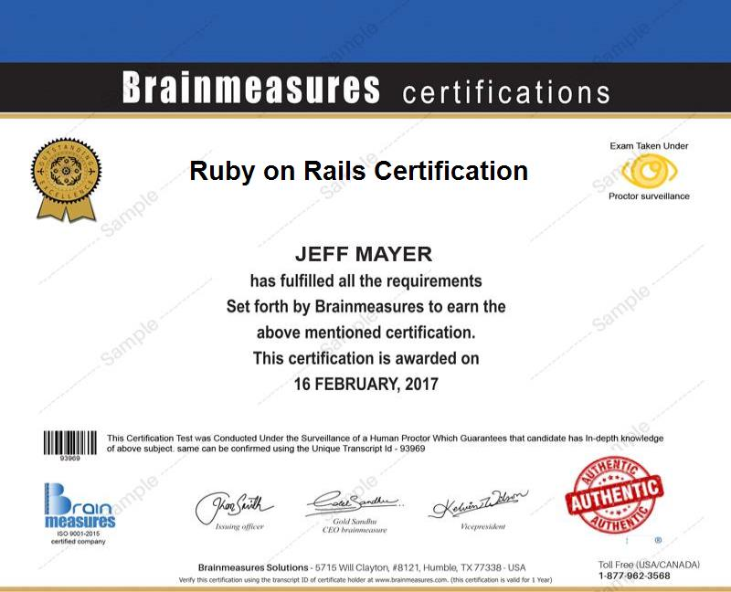Ruby On Rails Certification Usd 69 L Course L Training