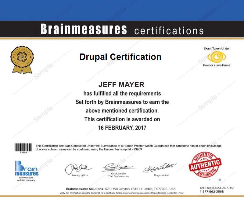 Drupal Certification Usd 69 L Course L Training