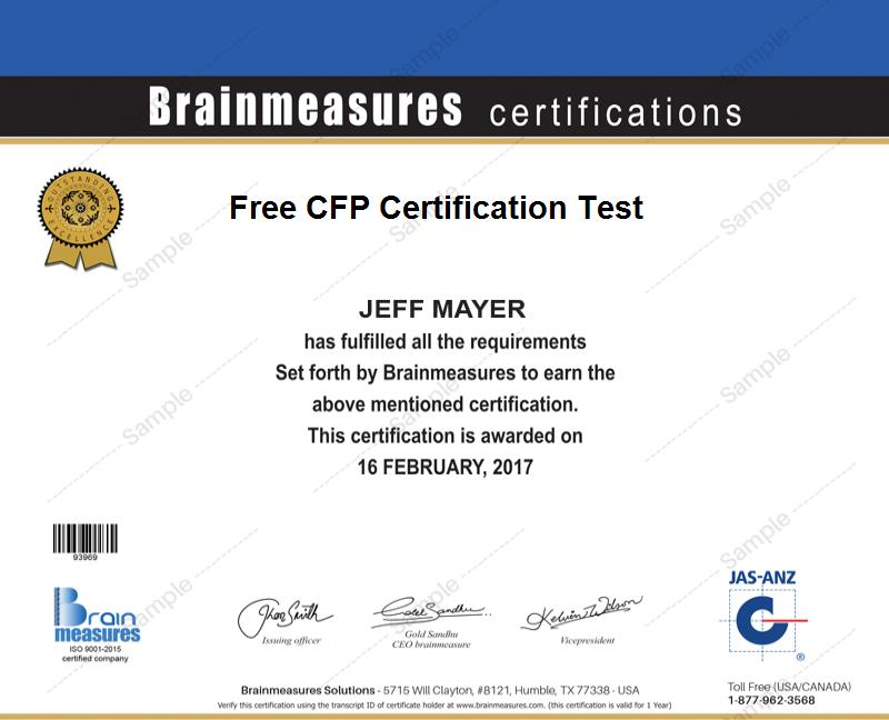 Free Cfp Certification L Cfp Practice Course L Cfp Practice Test