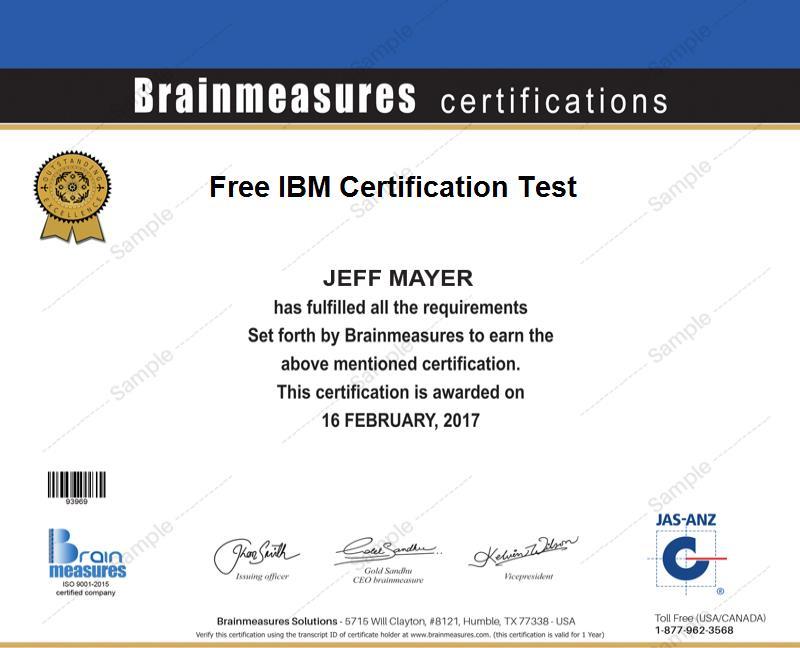 Free IBM Certification l IBM Practice Course l Practice Test