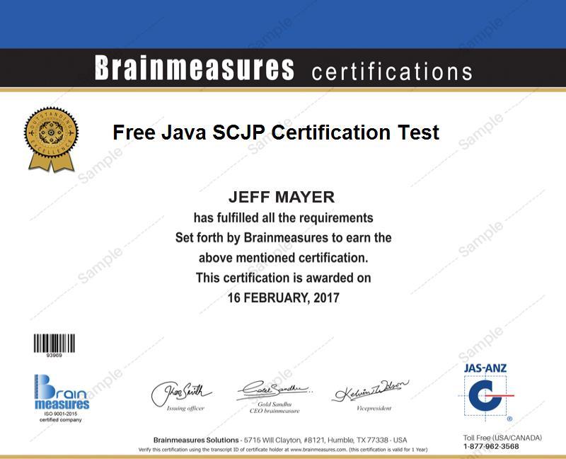 Free Java SCJP Certification l Practice Course l Practice Test