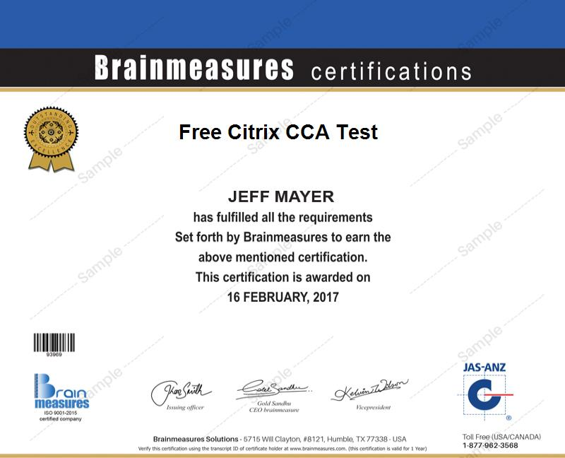 Free Citrix Cca Test L Free Practice Course